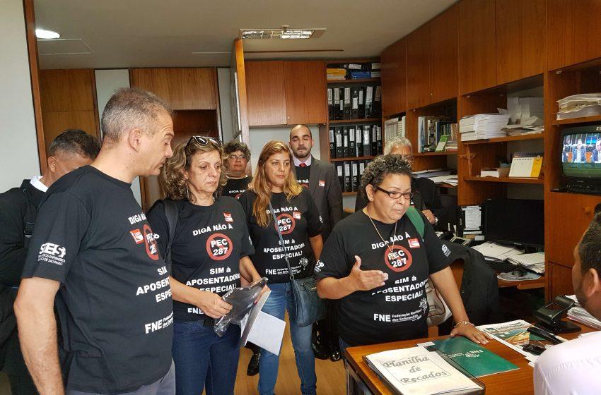 SEESP realiza visita à Câmara dos Deputados em manifesto contra a Reforma da Previdência