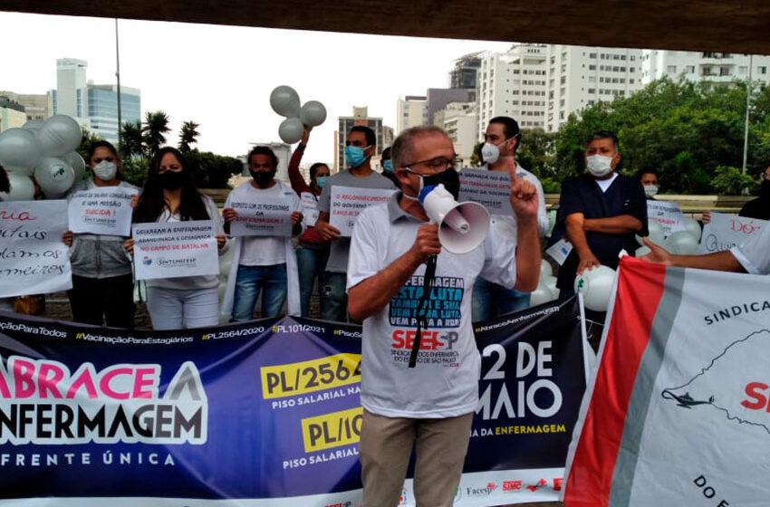 Dia Internacional da Enfermagem – SEESP participa de ato que reivindica direitos